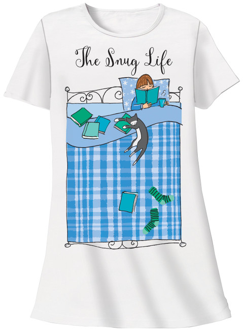 Cat Theme Sleep Shirt Pajamas The Snug Life- 629T