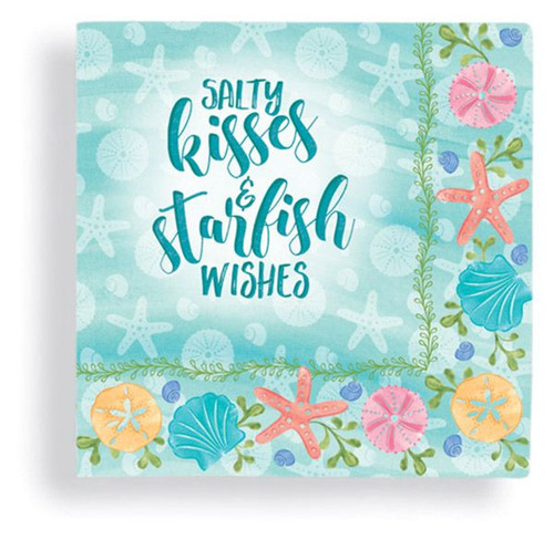Salty Kisses Starfish Wishes Cocktail Beverage Napkin 24 Count 15-234