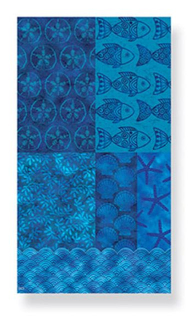 Beach Blue Batik Tropical  - Paper Guest Towels 30 Pack 848-83
