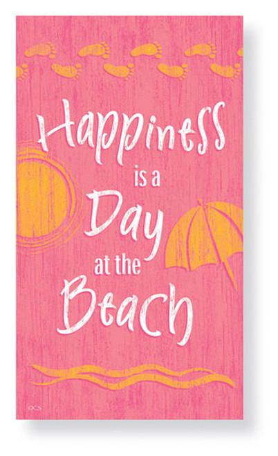 Happiness is a Day at the Beach  - Paper Guest Towels 30 Pack 848-75