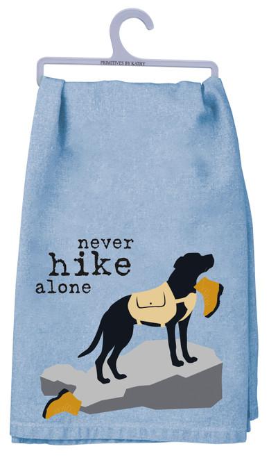 Black Lab Dish Towel - Never Hike Alone