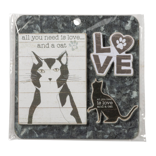 Magnet Set - Love And A Cat 135159