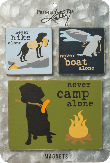 Magnet Set - Magnet Set - Never Camp, Hike, Boat Alone 39184