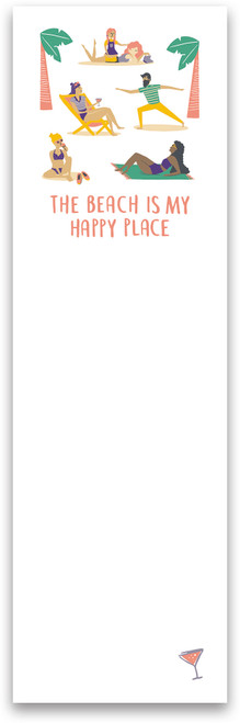 The Beach Is My Happy Place List Notepad - 103660