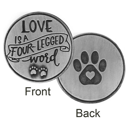 Love is a four legged word Paw Print Memory Token