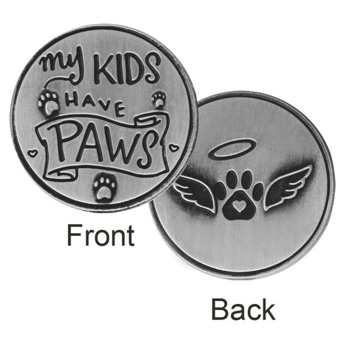 My Kids have Paws Paw Print Memory Token Coin 49766
