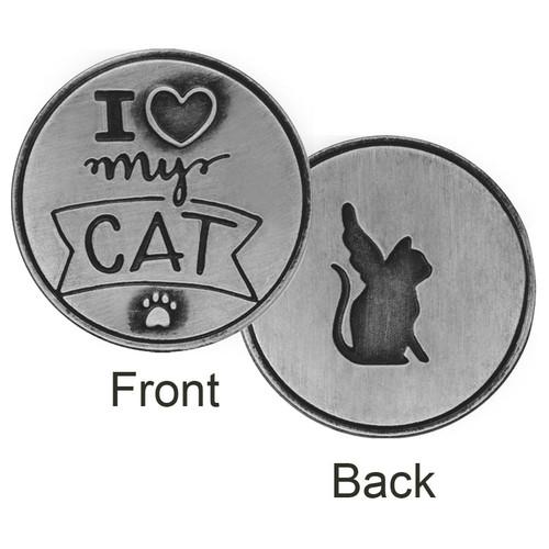 I love my Cat Angel Memory Token Coin 49763