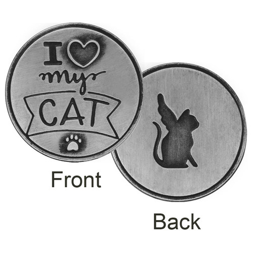 I love my Cat Angel Memory Token Coin 49763