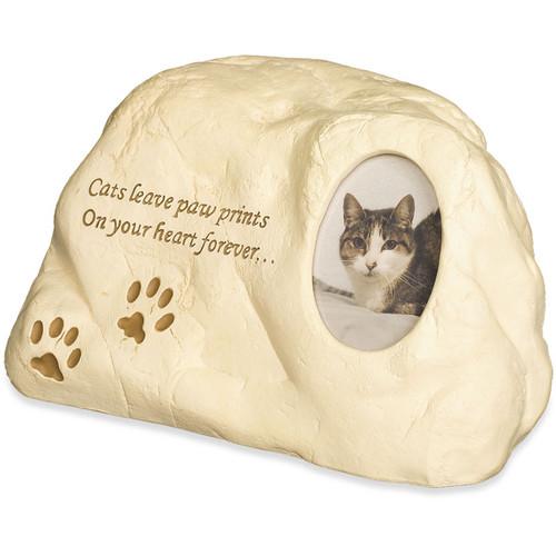 Cat Paw Prints Rock Urn Memorial 49508