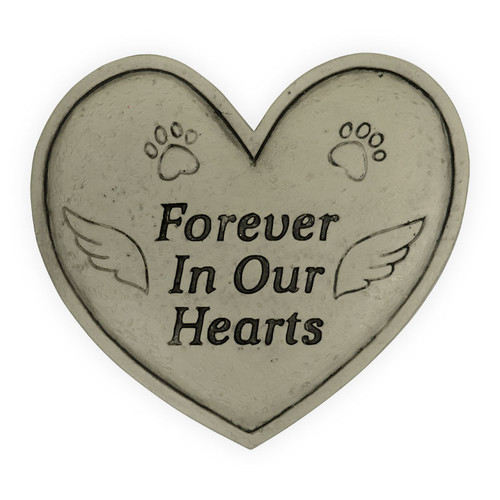 Pet Memorial Forever in our Hearts Garden Stone 49800A