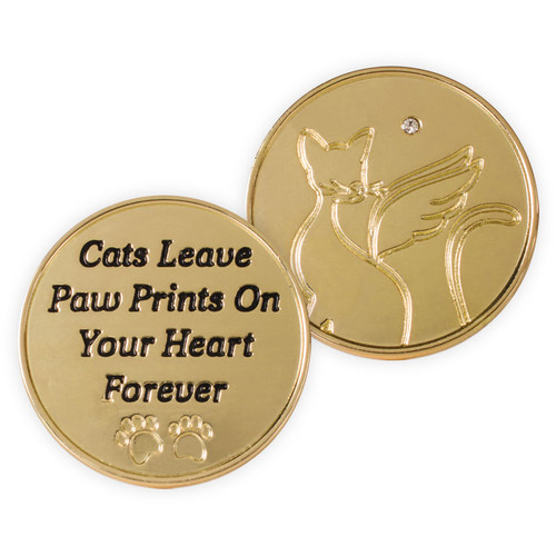 Cats Leave Paw Prints Memory Token Coin 49864