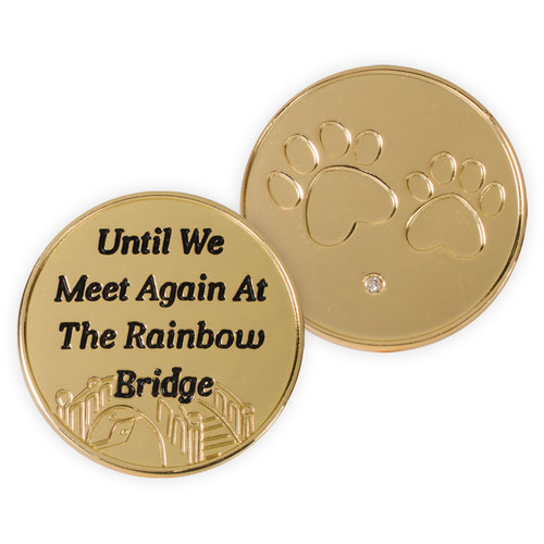 Until We Meet Again Paw Prints Memory Gold-tone Token Coin 49866