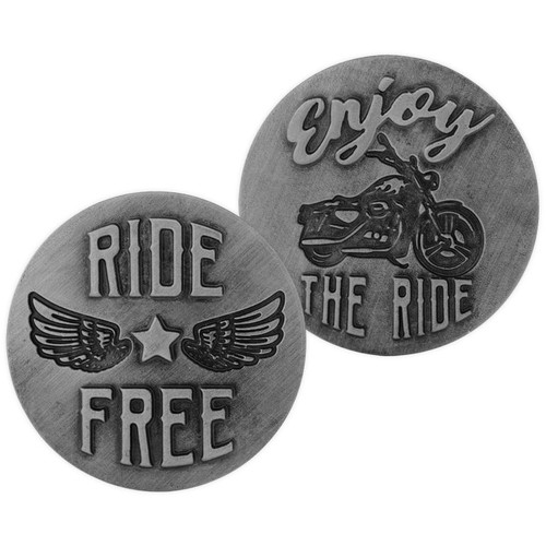 Motorcycle Guardian Eagle Ride Free Memory Token Coin 17445