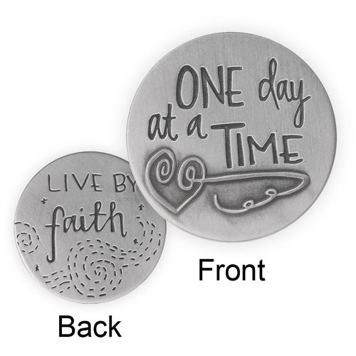 Live by Faith One Day at a Time Natures Grace Token Coin 15664