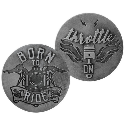 Born to Ride Motorcycle Guardian Eagle Throttle On Memory Token Coin 17442