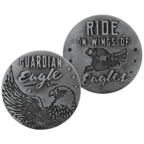 Motorcycle Ride on Wings of Eagles Guardian Eagle Memory Token Coin 17441