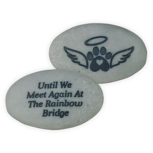 Pet Memorial Pocket Stone Until We Meet at the Rainbow Bridge 49880A