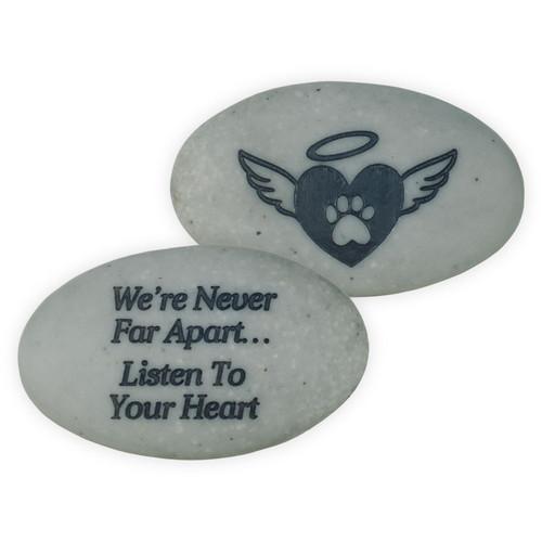 Pet Memorial Pocket Stone We are Never Far Apart 49880B