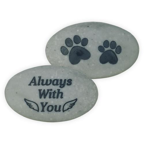 Pet Memorial Pocket Stone Paw Prints Always with You 49880C