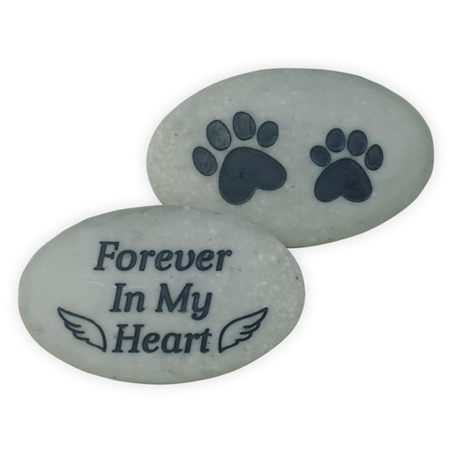 Pet Memorial Pocket Stone Paw Prints Forever in My Heart 49880D