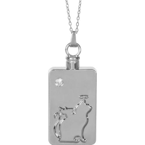 Cat Angel Keepsake Pendant Urn Memorial Necklace 46507