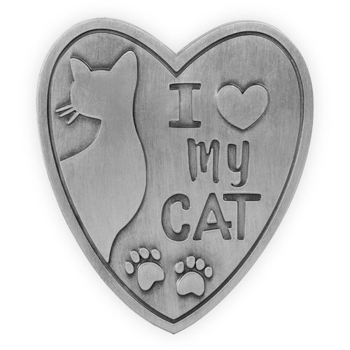 Visor Clip I Love My Cat  15874
