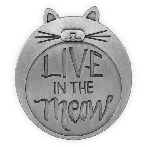 Visor Clip - Live in the Meow -  15876