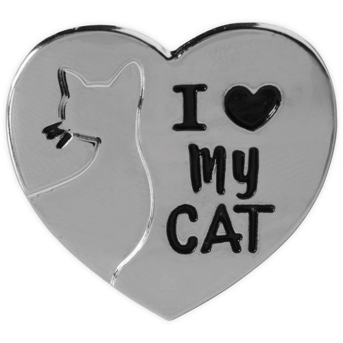 Lapel Pin - I Love My Cat   49843