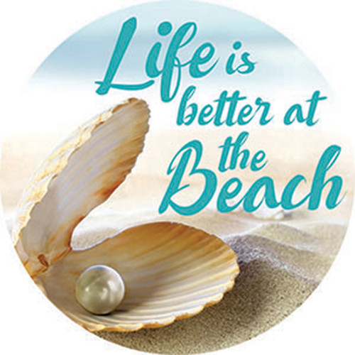 Life is Better at the Beach Absorbent Stone Coaster Car Cup Holder 72845