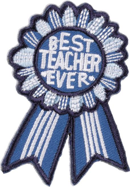 Teacher Gift + Card - Best Teacher Ever - Patch - 38652