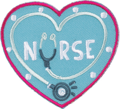 Nurse Gift + Card - Nursing Is A Work of Heart - Patch - 38621