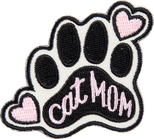 Cat Mom Gift + Card - Just Want To Be A Stay At Home Cat Mom - Patch - 37963