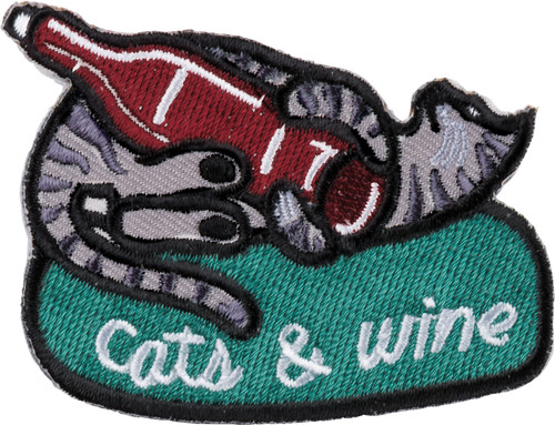 Cat Patch and Card - Cats And Wine Make Everything Fine - Patch - 37962