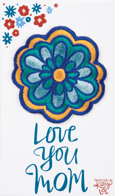 Flower Patch + Card - Love You Mom - Patch - 37959