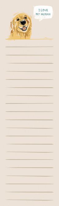 List Notepad - Retriever - I Love My Human (104854)