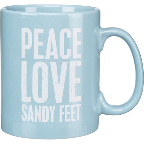 Beach Coffee Mug - Peace Love Sandy Feet - 20oz - 21642