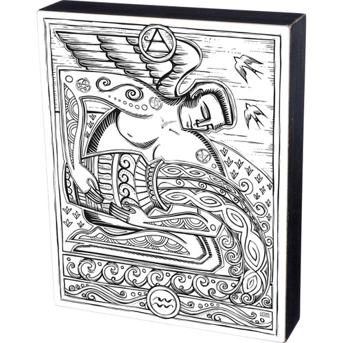 Aquarius Colorable Wall Art - Zodiac Color a Sign - 34041