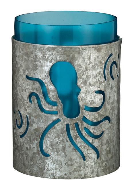 "Galvanized Candleholder 5.5"" - Octopus 20346"
