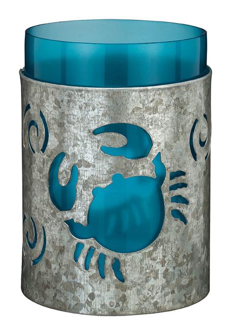 "Galvanized Candleholder 5.5"" - Crab 20344"