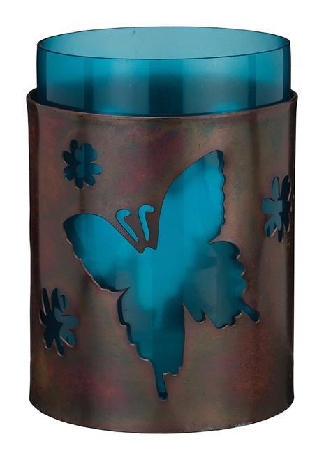 """Bronze Candleholder 5.5"""" - Butterfly 20334"""