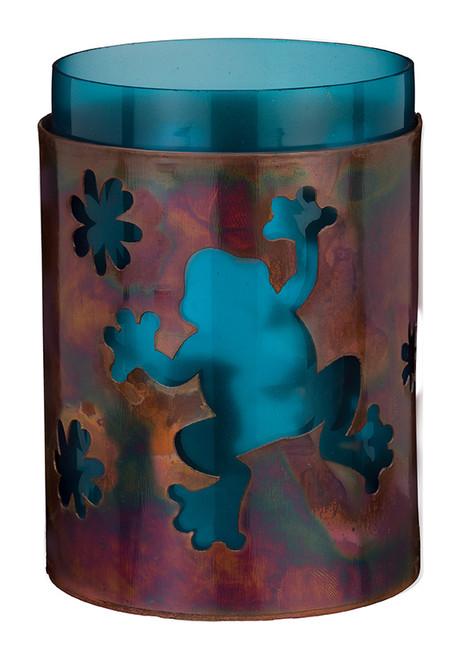 """Bronze Candleholder 5.5"""" - Frog 20420"""