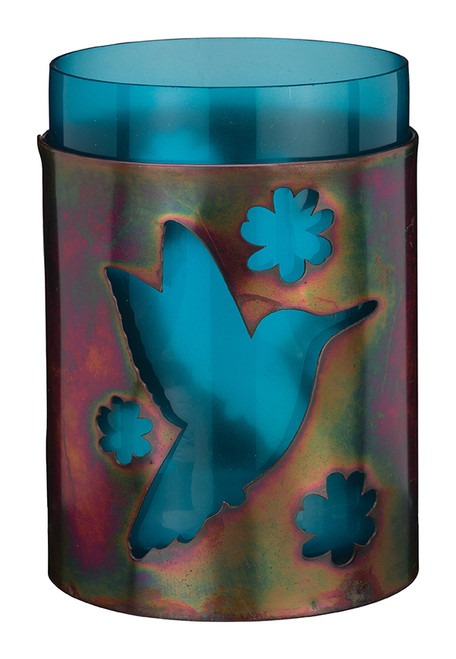 """Bronze Candleholder 5.5"""" - Hummingbird 20338"""