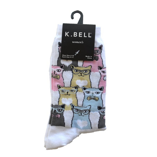 Smarty CATS Crew Socks - KBWS16H022