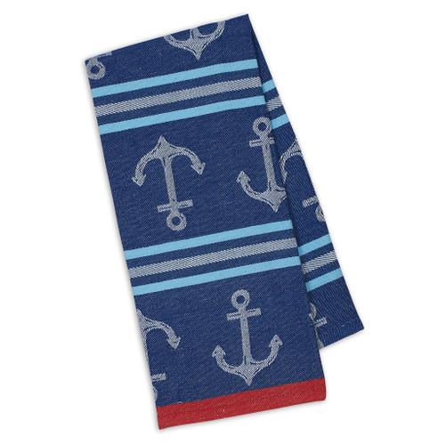 Anchor Stripe Jacquard Towel DishTowel - DII - 91009