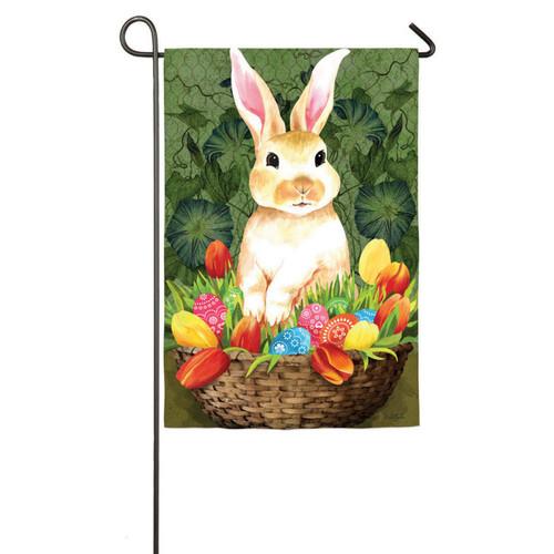 Garden Sub Suede Welcome Bunny Flag | GARDEN FLAG