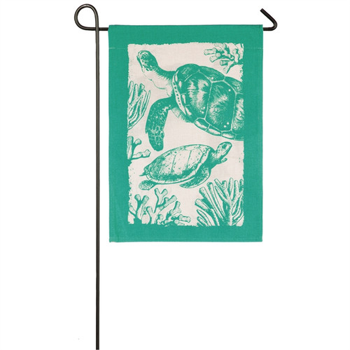 Sea Turtles Burlap GARDEN Flag - 14B8528