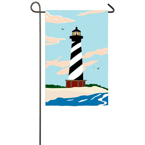 Cape Hatteras Lighthouse Garden Applique Flag