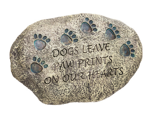 Dogs Leave Paw Prints On Our Hearts Resin Stone 84576