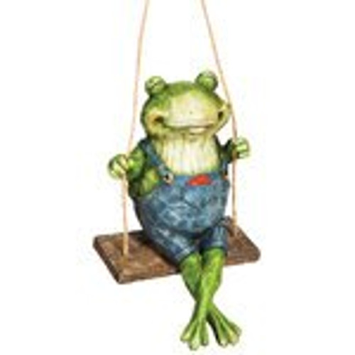 Swinging Frog - Garden Figurine - ZMR84AST01-A