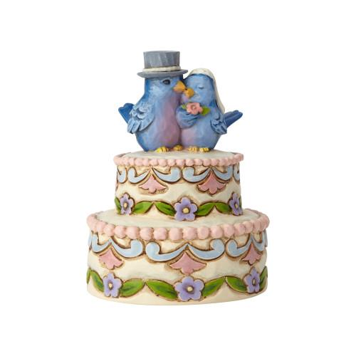"Jim Shore Mini Wedding Cake - 3.5"" Figurine - 6001090"